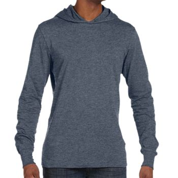 Canvas Unisex Long Sleeve Jersey Hooded T-Shirt Thumbnail