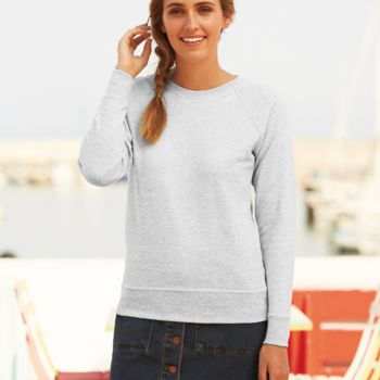 Fruit of the Loom Lady Fit Lightweight Raglan Sweatshirt Thumbnail