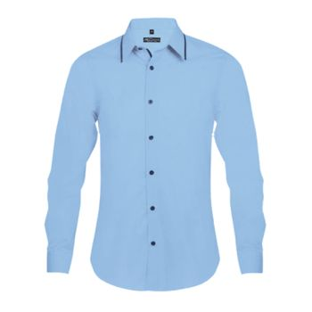 SOL'S Baxter Long Sleeve Contrast Fitted Shirt Thumbnail