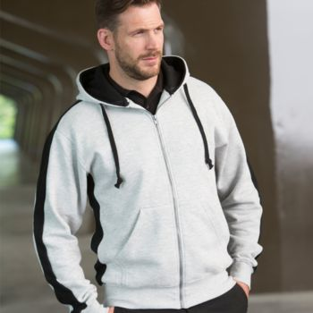 Finden and Hales Contrast Zip Hooded Sweatshirt Thumbnail