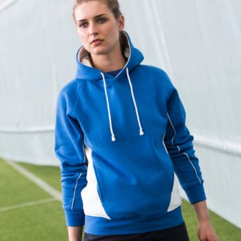 Finden and Hales Contrast Hooded Sweatshirt Thumbnail