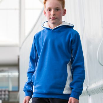 Finden and Hales Kids Contrast Hooded Sweatshirt Thumbnail