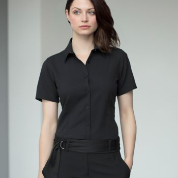 Henbury Ladies Short Sleeve Wicking Shirt Thumbnail
