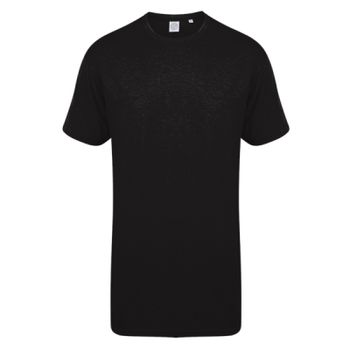 SF Men Long Line Dipped Hem T-Shirt Thumbnail