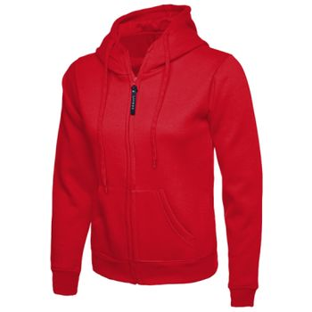 Ladies Classic Full Zip Hooded Sweatshirt Thumbnail