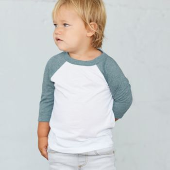 Canvas Toddler 3/4 Sleeve Baseball T-Shirt Thumbnail