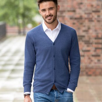 Russell Cotton Acrylic V Neck Cardigan Thumbnail
