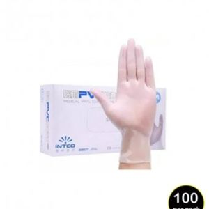 Clear Synthetic Vinyl Disposable Gloves (100 pack) Thumbnail